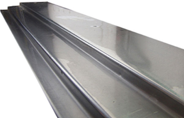 Stainless steel threshold