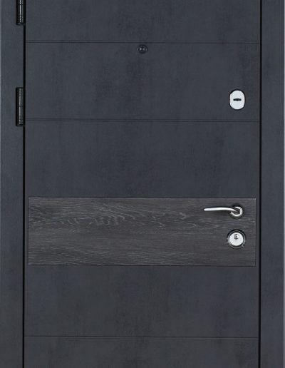 К-6 LX мод.411-190 Бетон темний (вмонт.ДШ Графіт)-Дуб шале сивий