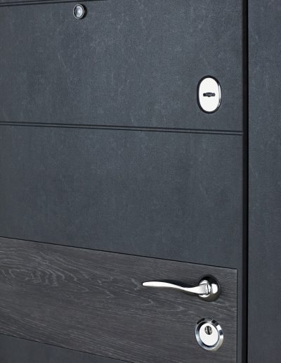 К-6 LX mod.411-190 Бетон темний (inbuiltДШ Графіт)-Дуб шале сивий